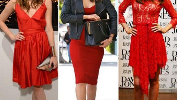 Cum poti asorta o rochie rosie?
